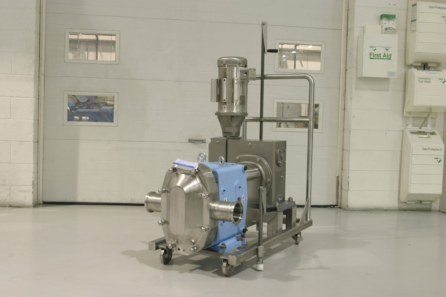 Sanitary Pump Skid with 90 Degree Drive