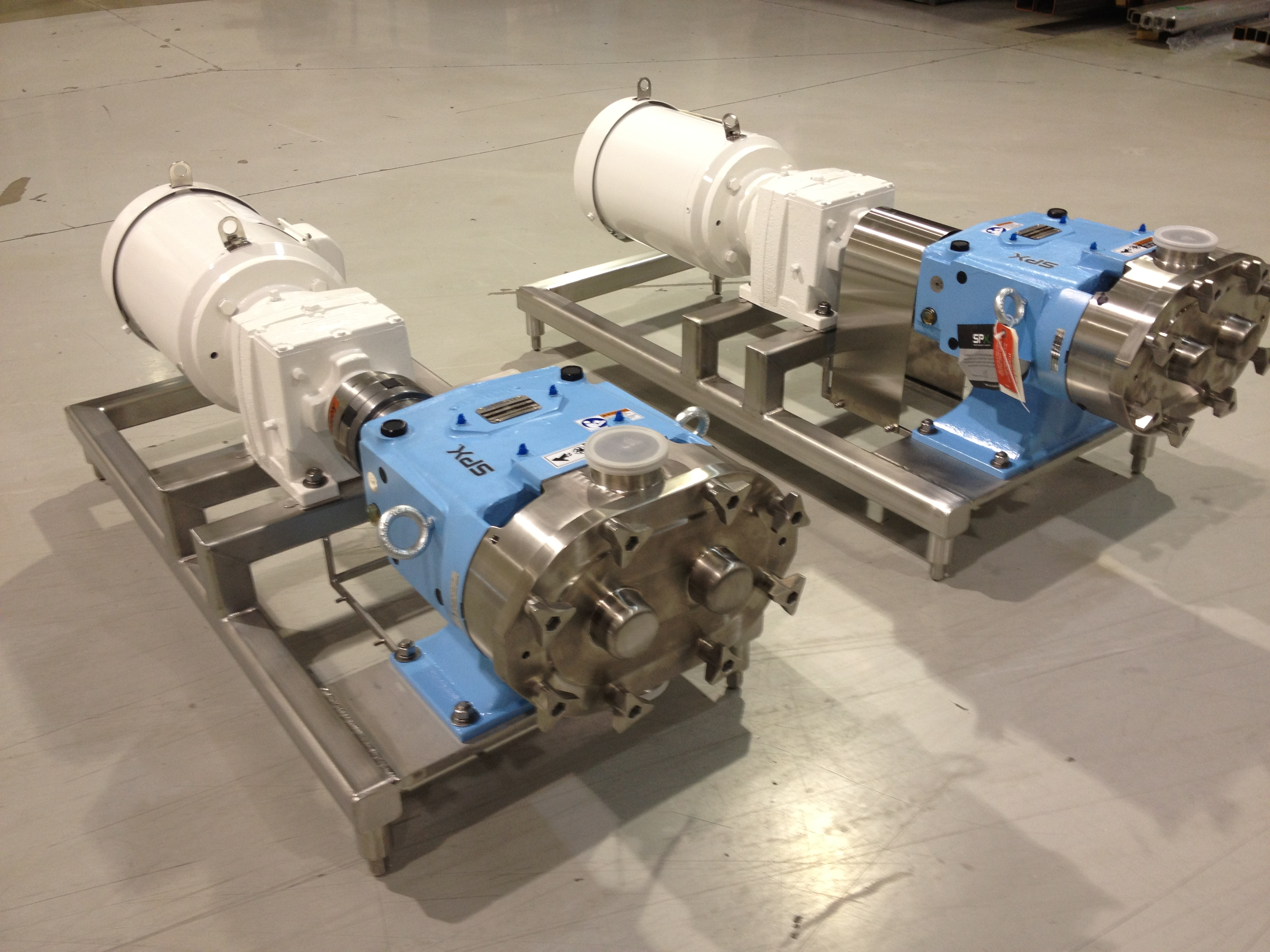 Waukesha U1 60 Pumps Vertically Mounted