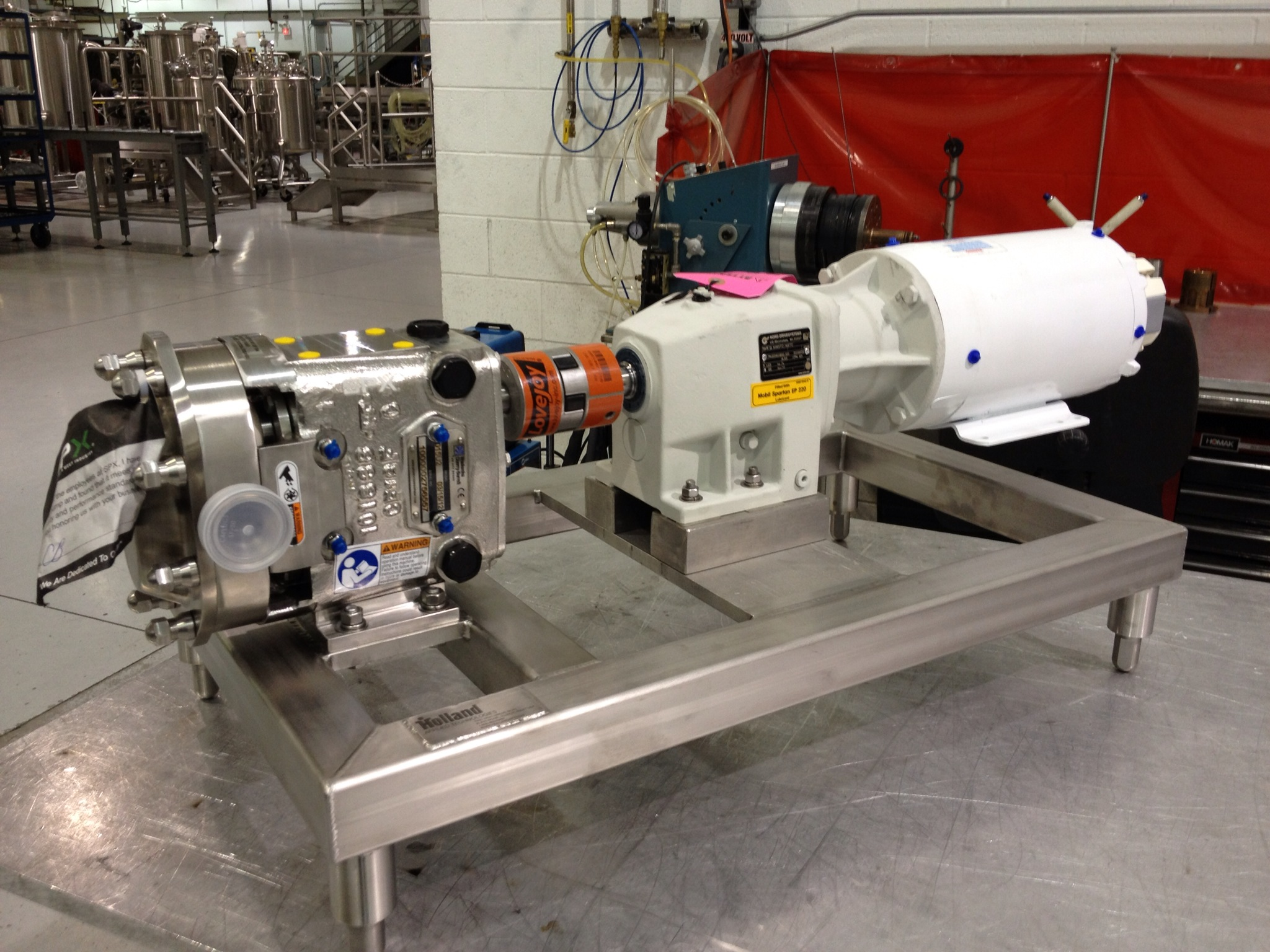 Waukesha Sanitary Pump with Stainless Steel Powerframe